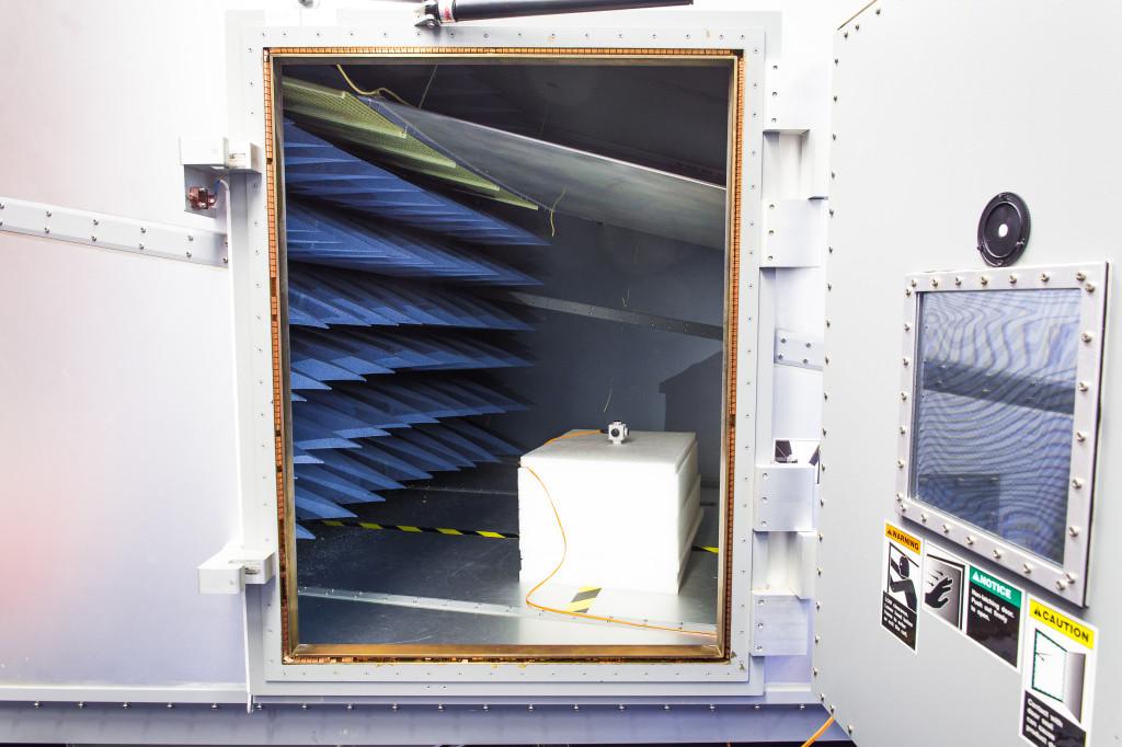 Producten tot circa 30x30x30cm kunnen in de GTEM worden getest.